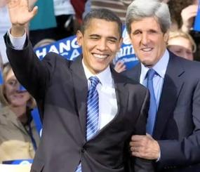 John Kerry and Barack Obama
