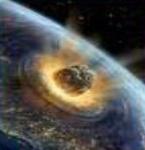 meteor striking earth