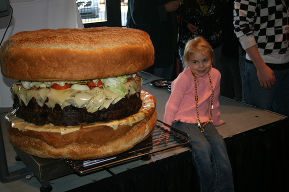 world record burger -- largest