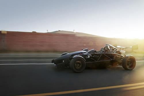 Darth Vader in a race car