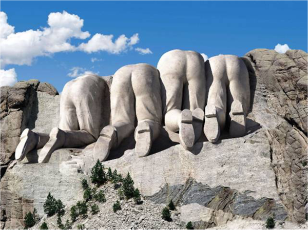 Have you ever wondered what the backside of Mount Rushmore looked like?