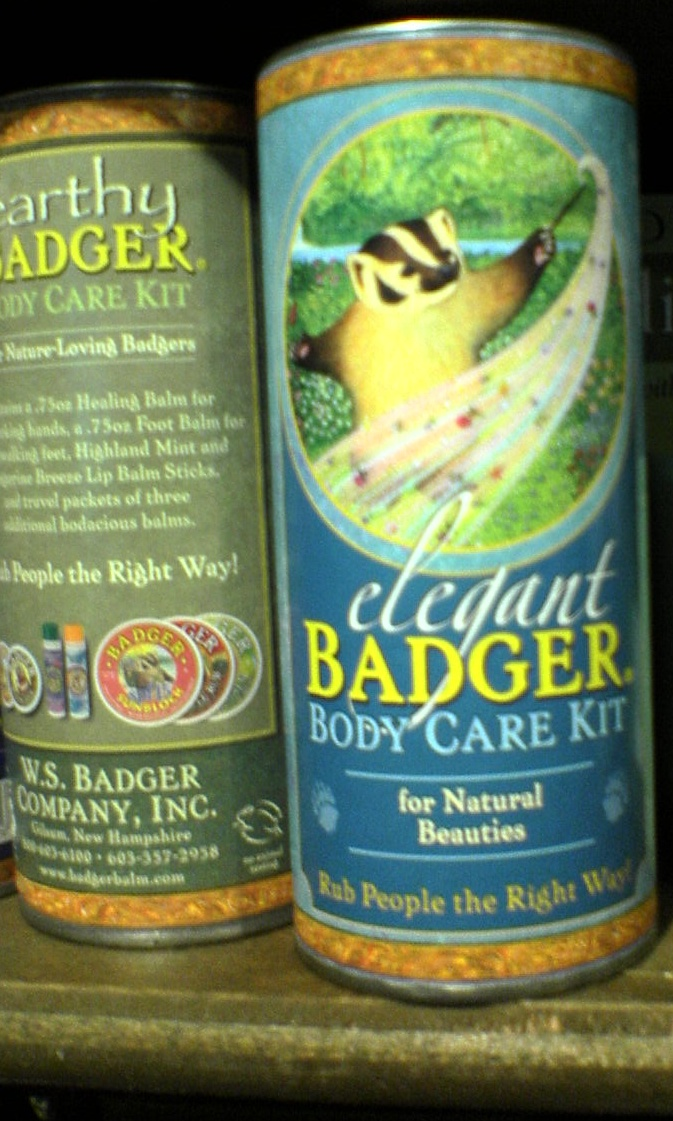 "Saw this at Cracker Barrel... what's this about?  And why do ""natural beauties"" need badger body care?"