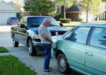 Image result for guy pissing in car