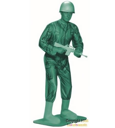 costume - green army man