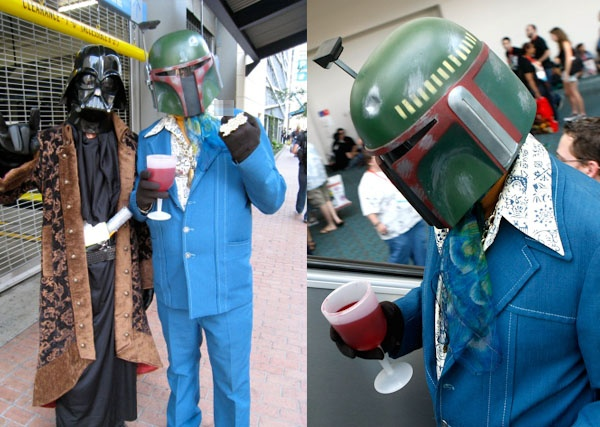 costume - Pimp Vader and Leisure Suit Boba Fett
