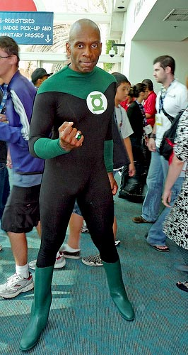 guy in costume - it's not easy being Green... Lantern