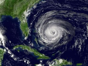 satellite photo of Hurricane Jeanne from 2004