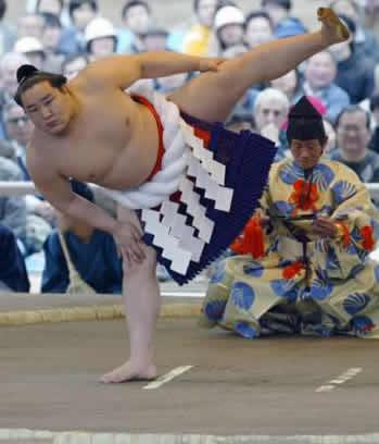 sumo wrestler intro