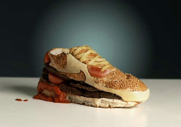 tennis shoe sandwich