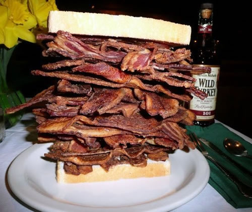 large bacon sandwich