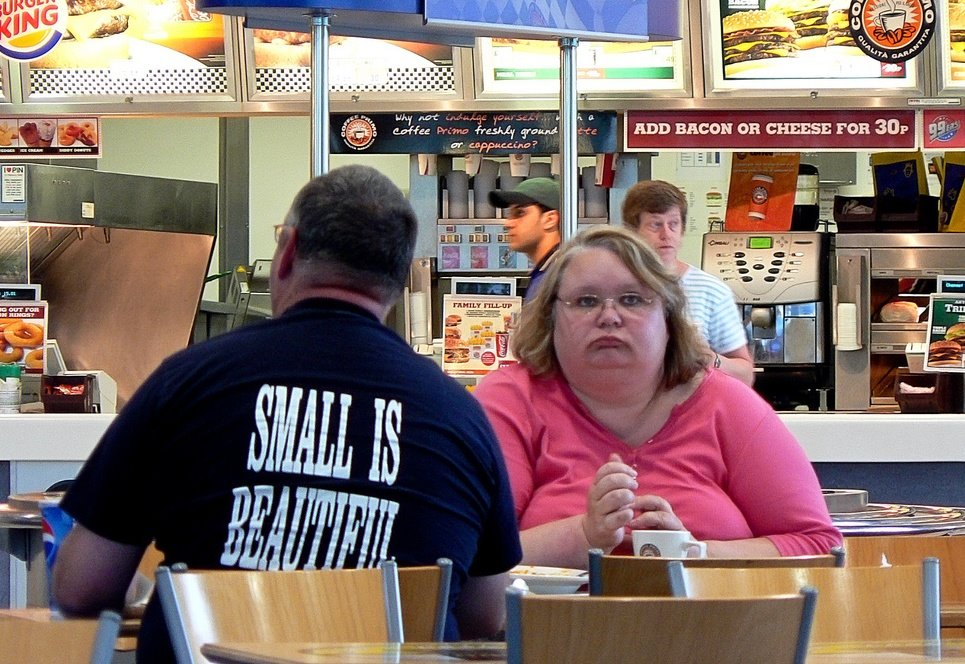 Funny Burger King: Caption Contest, Overweight Woman At Burger King