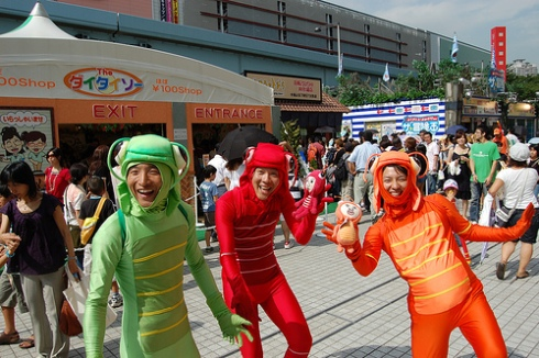 Japanese guys in crazy costumes