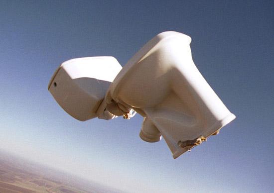 launching a toilet into space buffet o