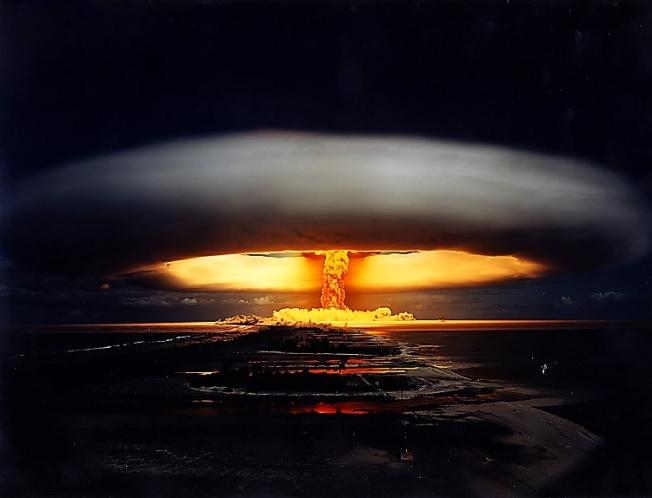 explosion - Licorne shot, French Polynesia, 1970, 1