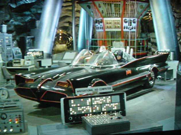 Batmobile in the Batcave