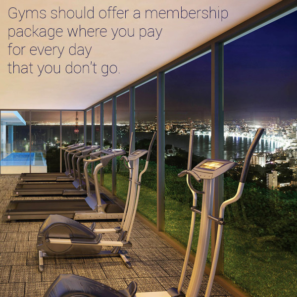 That is actually a great idea!  Granted, most people would cancel their membership instead, but the concept is great... in theory.