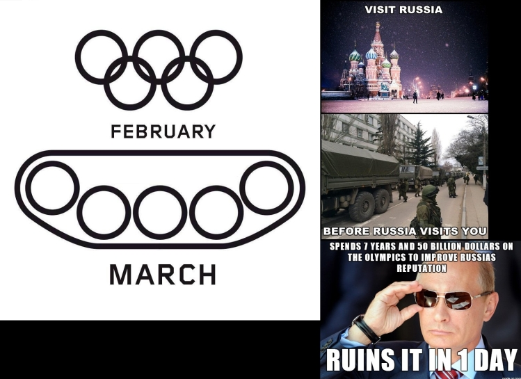 That's a unique perspective on Russia's position these days...